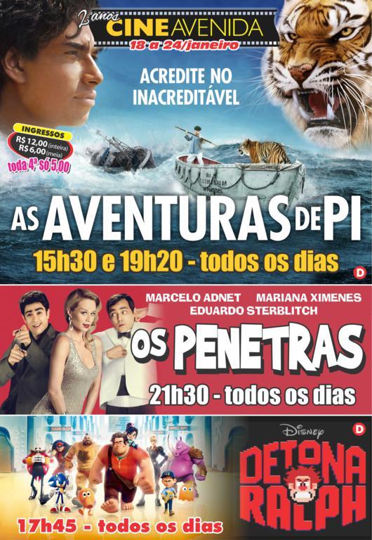Cine Avenida - 18 a 24.01
